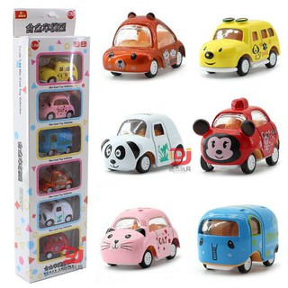 6PCS/Set Baby Kids Alloy Cartoon Car Model Toy LY808