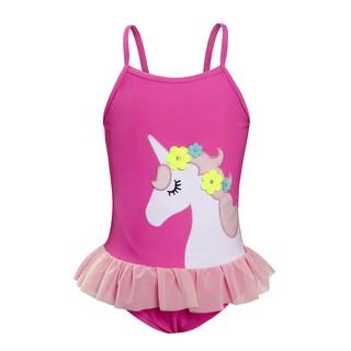 Giáng sinh Cô gái áo tắm đỏ hồng kỳ lân Mùa hè Áo tắm Trang trí thắt lưng ren Đồ bơi trẻ em Móc Phù hợp với mỏng