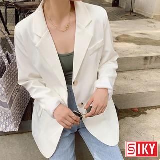 Áo blazer nữ dài tay áo vest khoác ngoài phong cách Hàn Quốc - Siky HX04 thumbnail