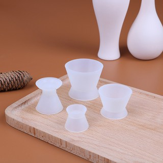 4Pcs/set Dental flexible silicone mixing cup dental silicone rubber mixing bowl
