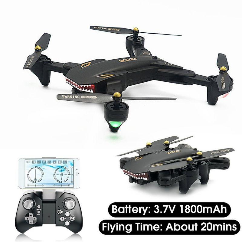 Máy bay điều khiển Flycam Drone Visuo XS809S có Camera HD FPV trực tiếp bay 18p