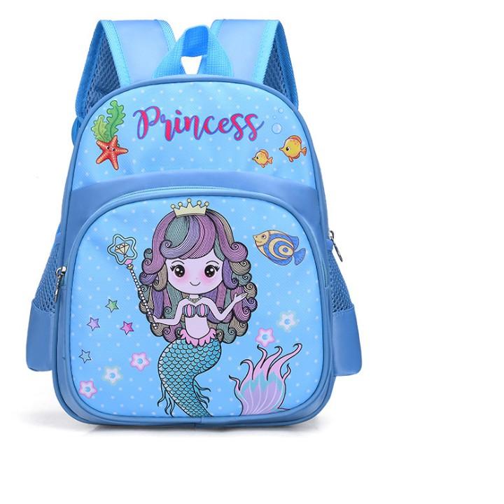 Balo Nàng tiên cá xanh ngọc cho bé gái mẫu giáo