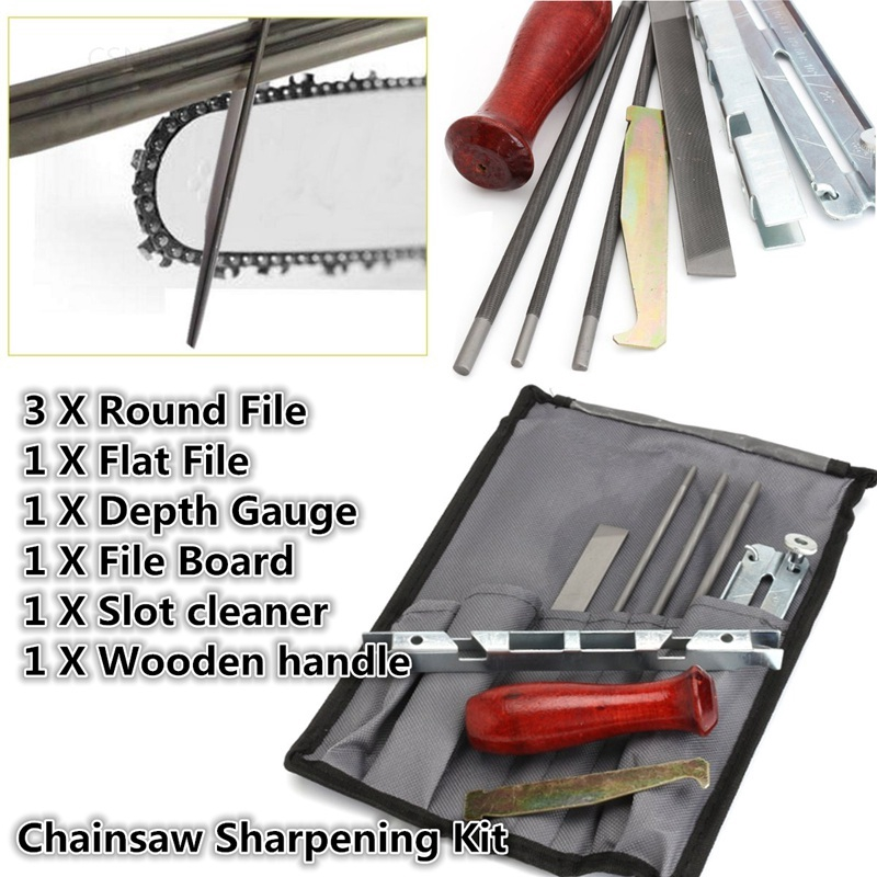 Exclusive 8Pcs Chain Saw Sharpening Kit Chainsaw Set Guide  Gauge Top Quality Tool Depth Bar New File