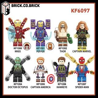 KF6097 - Đồ chơi lắp ráp minifigure và non lego mô hình Super heroes Siêu anh hùng Marvels DC Spider man, Iron Man thumbnail
