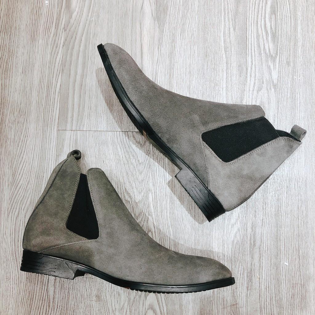 Giày nam chelsea boot da bò lộn 2H - 47