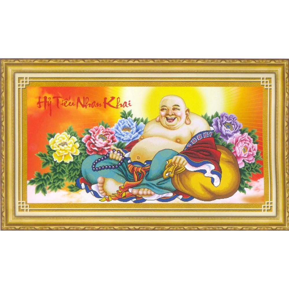 Tranh thêu chữ thập Một Nụ Cười Làm Nở Hoa - Nụ Cười Phật Di Lặc 222785