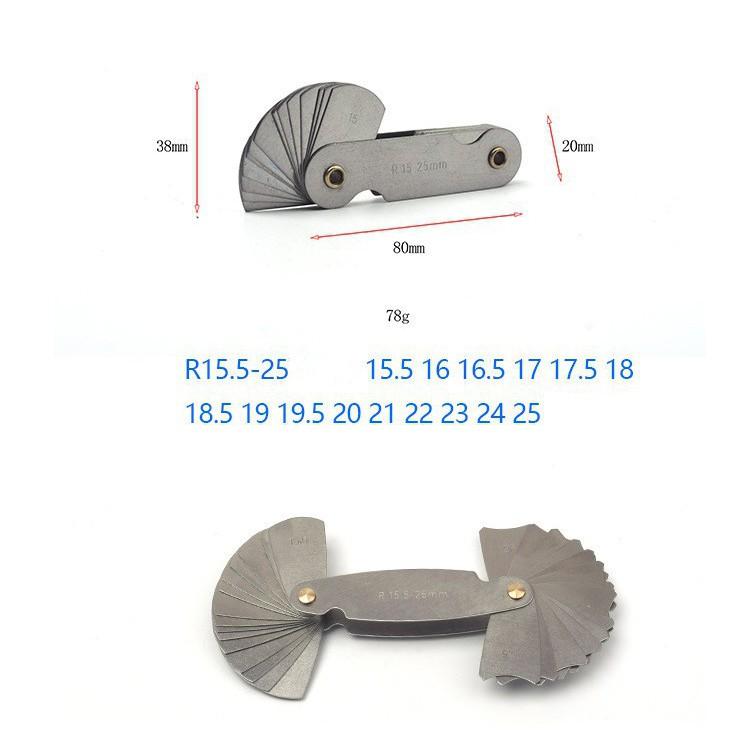 Bộ dưỡng đo bán kính 15.5-25mm 30 lá