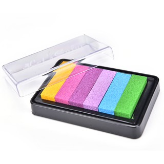 HEL❤ NEW Gradient Oil Based Ink pad Signet For Paper Wood Craft Rubber St