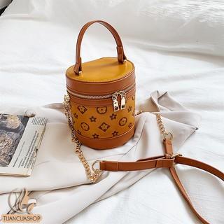 Túi hộp xách tay bằng da in hoa văn chìm HT903