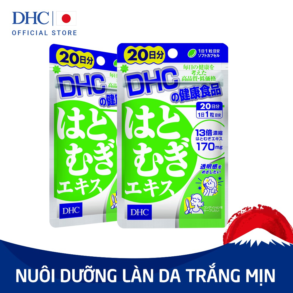 Viên uống Trắng da DHC Nhật Bản Adlay Extract (20v/gói)