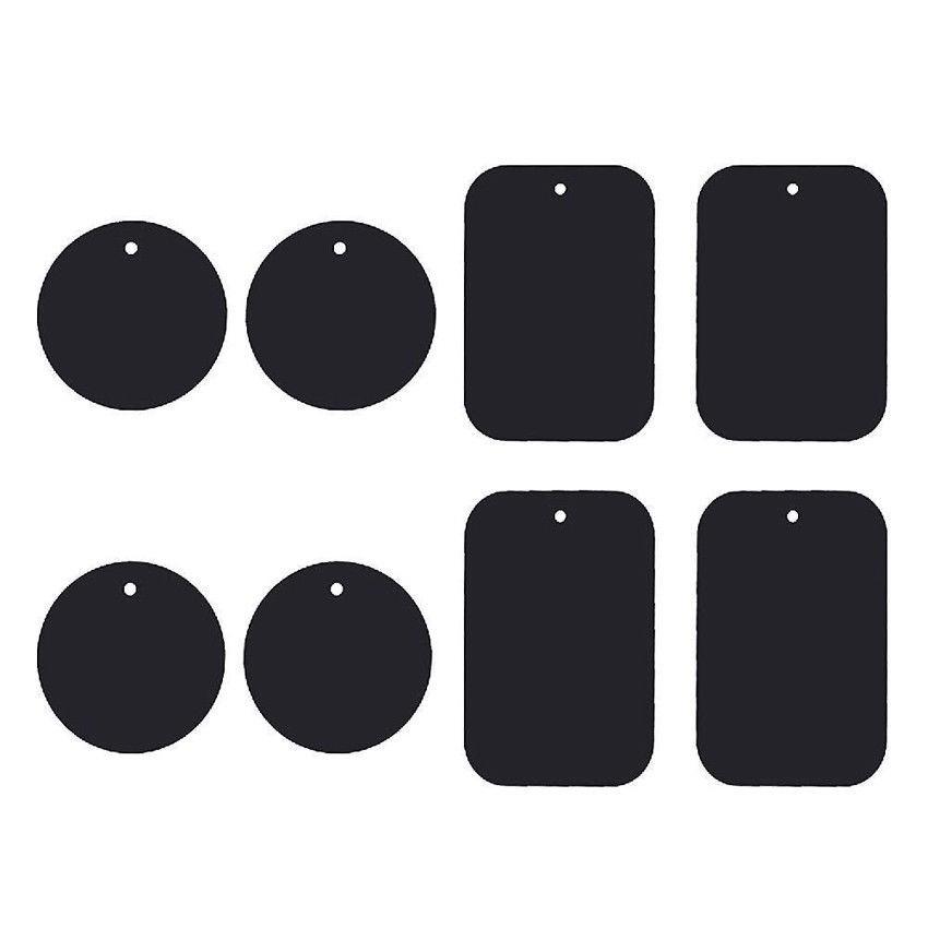 4 miếng dán hình tròn và chữ nhật giữ điện thoại mạ kim loại tiện dụng