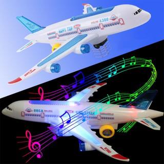 Children Boy Universal Wheel Aircraft Simulation Airplane Model Lights Music