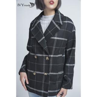 Áo khoác dạ nữ dáng suông IVY moda MS 70B6805 thumbnail