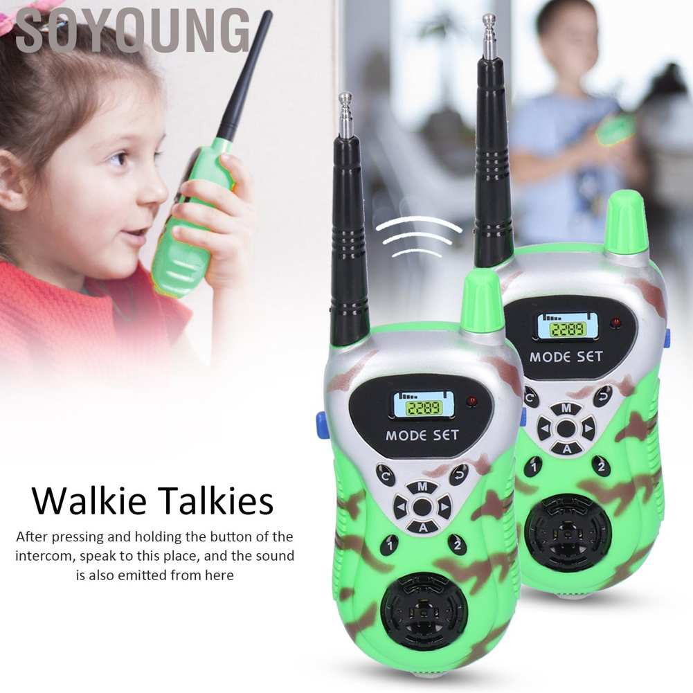 Soyoung 2Pcs Walkie Talkies Handheld Mini Remote Smart Wireless Call Parent‑Child Interaction Toys Gift