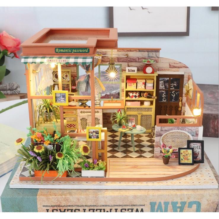 Nhà búp bê gỗ - mô hình quán cafe lãng mạn ngày hè với khung cảnh nhẹ nhàng, thanh nhã