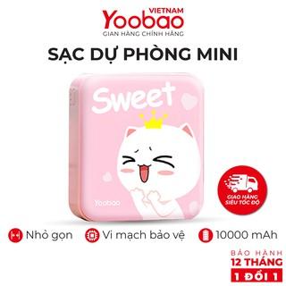 Sạc dự phòng mini 10000mAh Yoobao YB-6024 Trang bị đèn LED chiếu sáng - Hàng chính hãng - Bảo hành 12 tháng 1 đổi 1