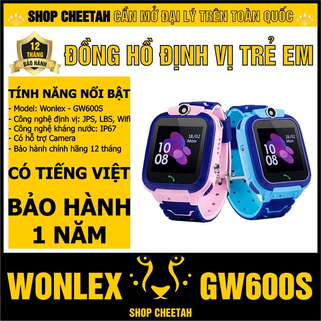 Đồng hồ định vị trẻ em Wonlex GW600S – CHÍNH HÃNG – Kháng nước IP67 – Camera – Wifi/Lbs/Gps – Tiếng Việt –Bảo hành 1 năm