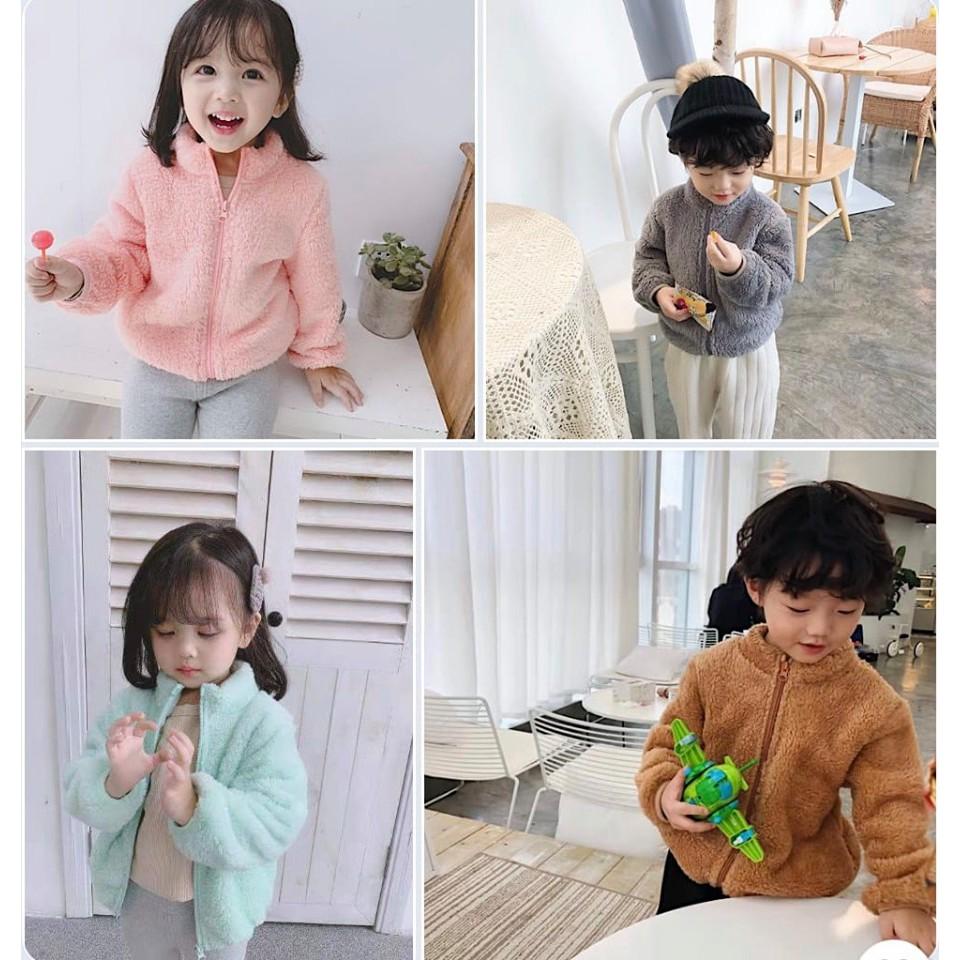 Áo khoác lông cừu Quảng Châu bé trai, bé gái