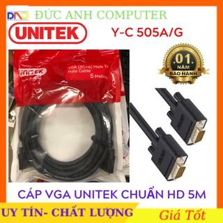 Cáp Vga 5m UNITEK YC505 chính hãng, Cáp kết nối màn hình với máy tính- Chính Hãng 100%- Bảo Hành 18 Tháng- 1 đổi 1