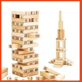 [ FREE SHIP 150K ] Bộ đồ chơi rút gỗ 54 thanh