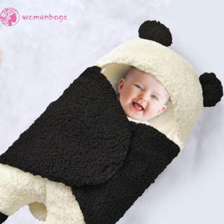 WB✿Baby Blanket Wearable Panda Swaddle Blanket Wool Lamb Wrap Hug Sleeping Bag
