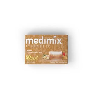 Combo Xà phòng Medimix 18 Loại Thảo Dược - Đàn Hương - Kumkumadi Nghệ Tây - Cỏ Hương Bài 125g bánh-4