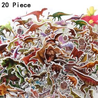 20 Pcs Cartoon Dinosaur Sticker Decals for Luggage Laptop Car DIY Home Decor
