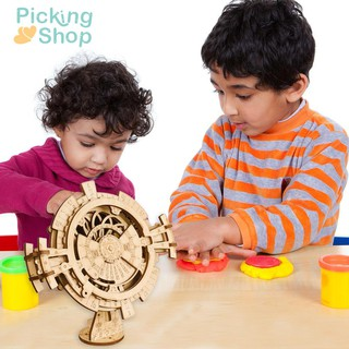 26pcs 3D DIY Perpetual Calendar Wooden Puzzle Game Assembled Toy Gifts
