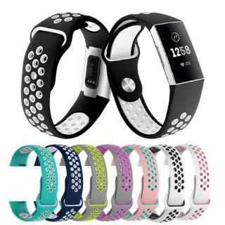 Dây silicone thay thế cho đồng hồ đeo tay Fitbit Charge 3