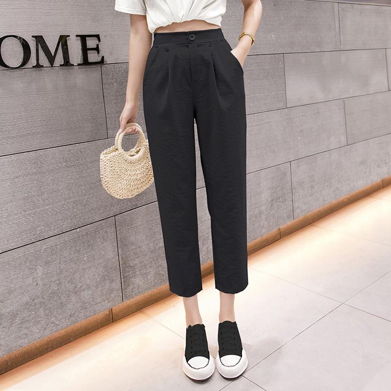 Mặc gì đẹp: Đẹp với Quần Baggy Nữ chất đũi Madela phong cách trẻ trung, Quần đũi dài nữ công sở - QBG103