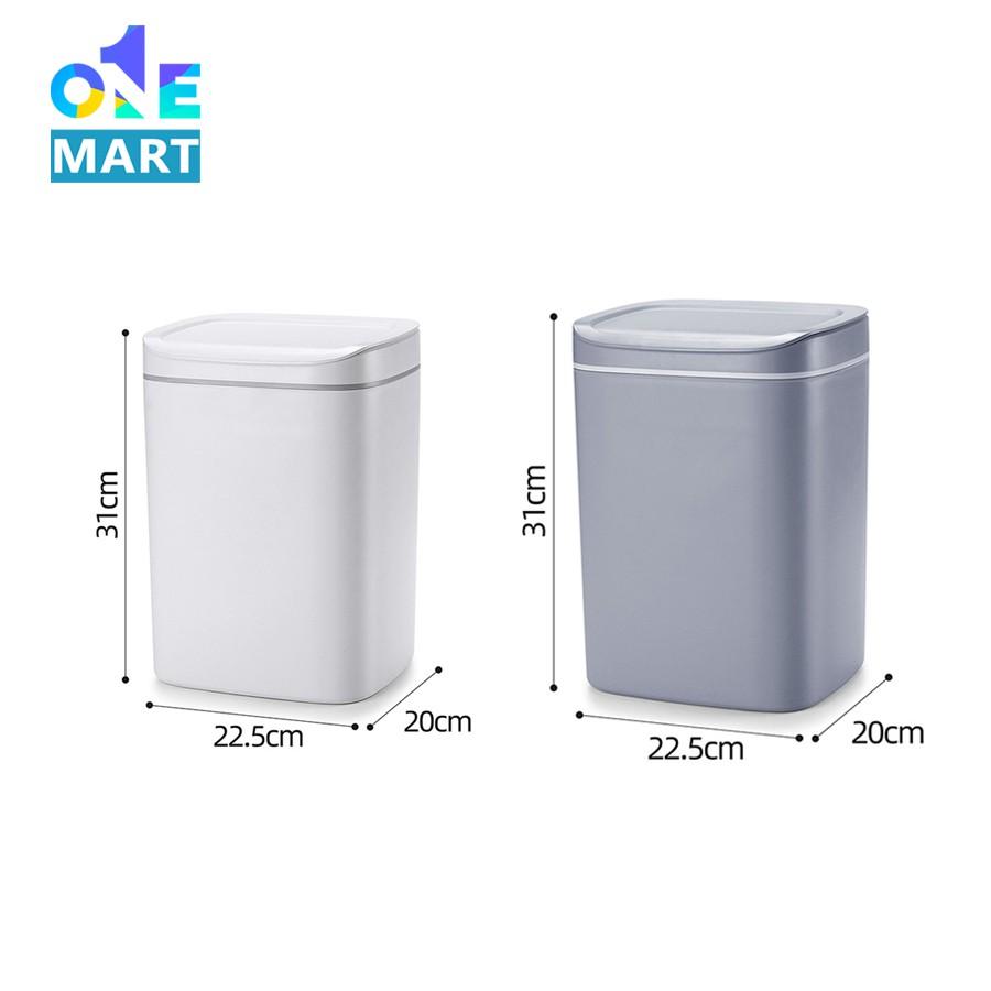 Thùng rác cảm ứng Wudina thùng rác thông minh có đèn Led dung tích 13L cảm ứng chỉ sau 0.3s