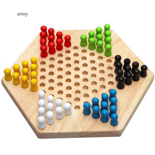 ★Wood Chinese Checkers Jumping Chess Board Game Children Kids Developmental Toy