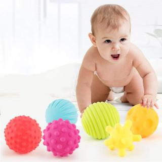 Six Different Models Sensory Touch Training Puzzle Fitness Soft Ball Baby Hand Holding Rattle Ball Bath Toy