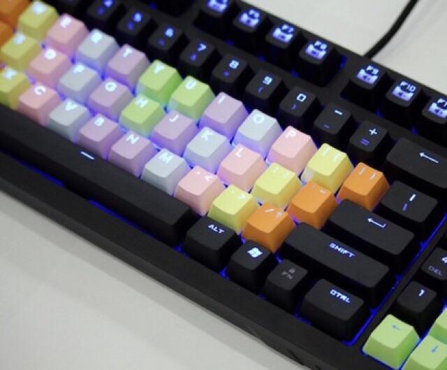 Keycap rainbow xuyên led 37PBT