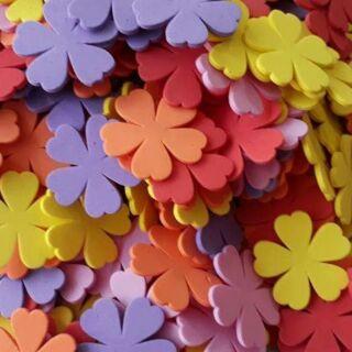 Hoa xốp dập sẵn bitis 5cm 500 bông