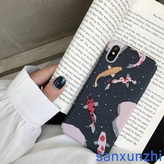 Iphone X/XS 6 6s 6Plus 7 7Plus 8 8Plus Cartoon Koi Hard Case Phone Cover