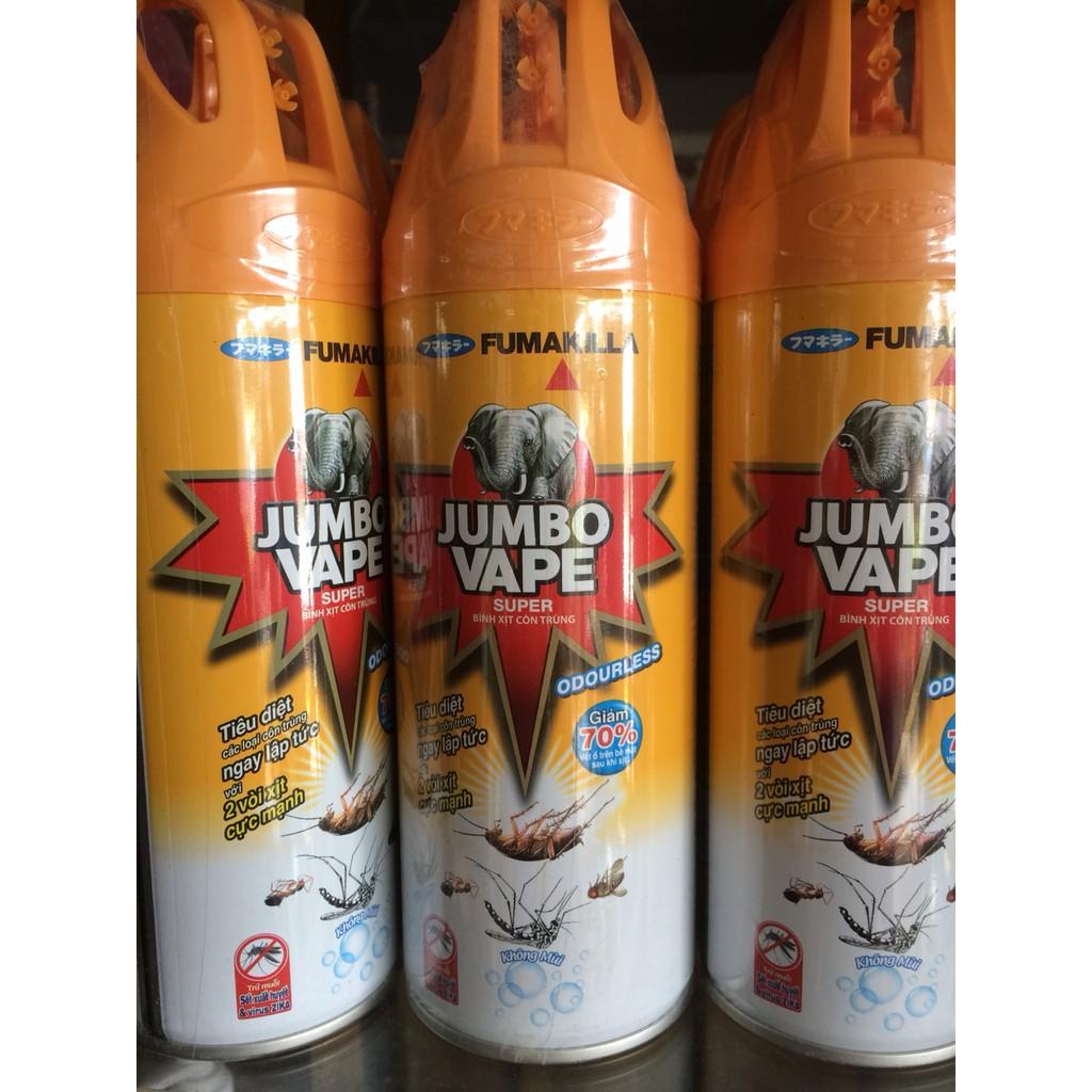 Bình xịt côn trùng Jumbo Vape không mùi chai 300ml/600ml - 10064706 , 952771640 , 322_952771640 , 33000 , Binh-xit-con-trung-Jumbo-Vape-khong-mui-chai-300ml-600ml-322_952771640 , shopee.vn , Bình xịt côn trùng Jumbo Vape không mùi chai 300ml/600ml
