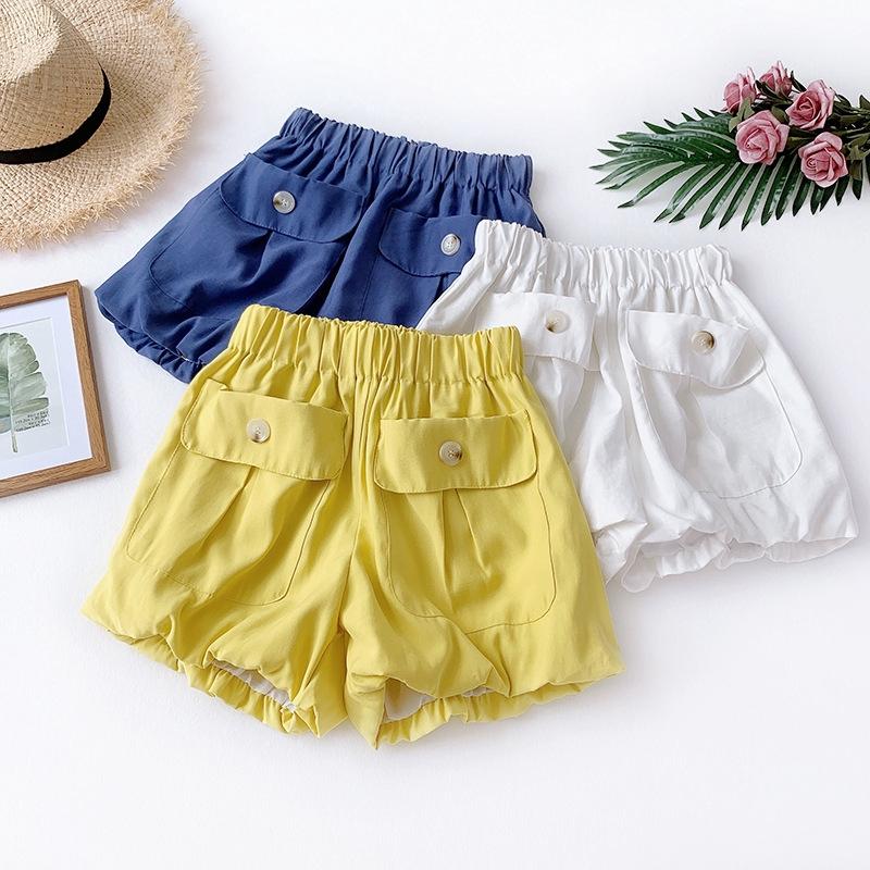 Mới tinh nghịch nữ tính dễ thương gió bông hoa quần mỏng chân rộng quần short giản dị quần harem quần bí ngô