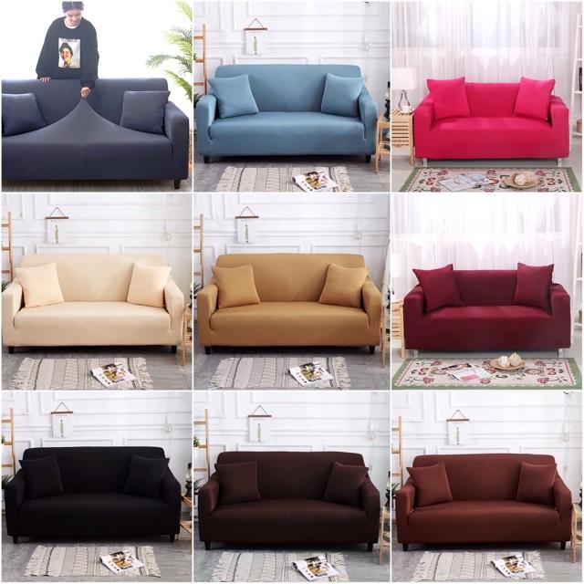 5. Ga bọc ghế Sofa màu trơn sang trọng tự bọc tại nhà