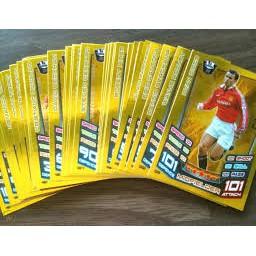 Bộ 50 thẻ cầu thủ Match Attax 2012/2013 nguyên seal kèm logo - cơ hội để săn tìm những tấm thẻ Legend một thời!