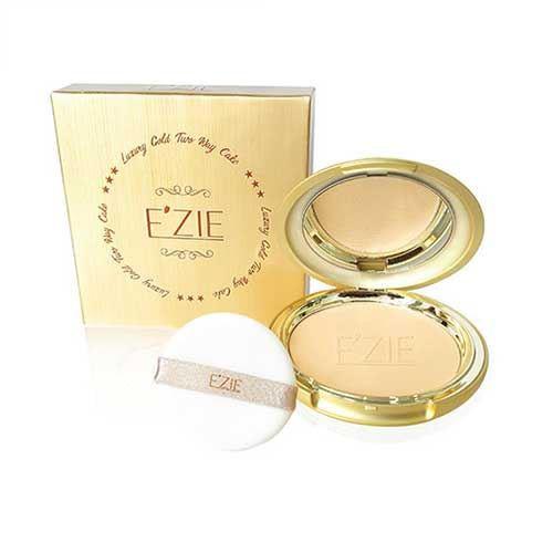 Phấn lụa tinh chất vàng siêu mịn Ezie Luxury Gold Two Way Cake SPF 28 23g