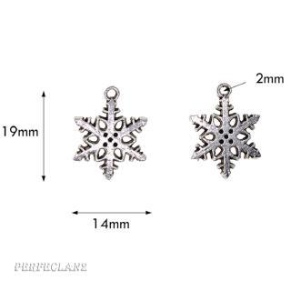 100pcs Christmas Hanging Decor Snowflake DIY Crafts Bag Ornament 1.9×1.4cm