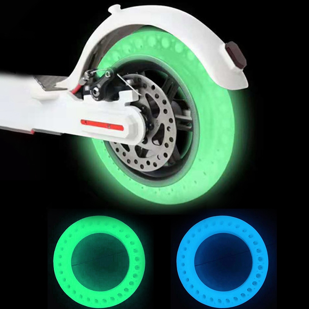 Solid Durable Inflate Free Hollow Luminous Fluorescent Tyre Shock Absorption Easy Use For Xiaomi Scooter M365