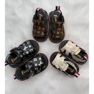Sandal Tập Đi LV Cho Bé Có Kèn Chip — ( Ảnh Thật)