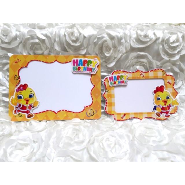 Set 2 khung ảnh để bàn tiệc sinh nhật