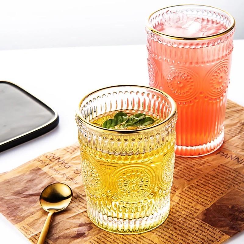(HÀNG ĐẸP) Cốc uống nước hoa mặt trời, thủy tinh chịu nhiệt cao cấp