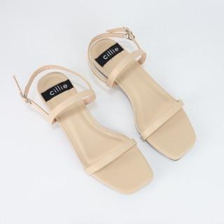 Giày sandal nữ quai ngang Cillie cao 2cm 1002