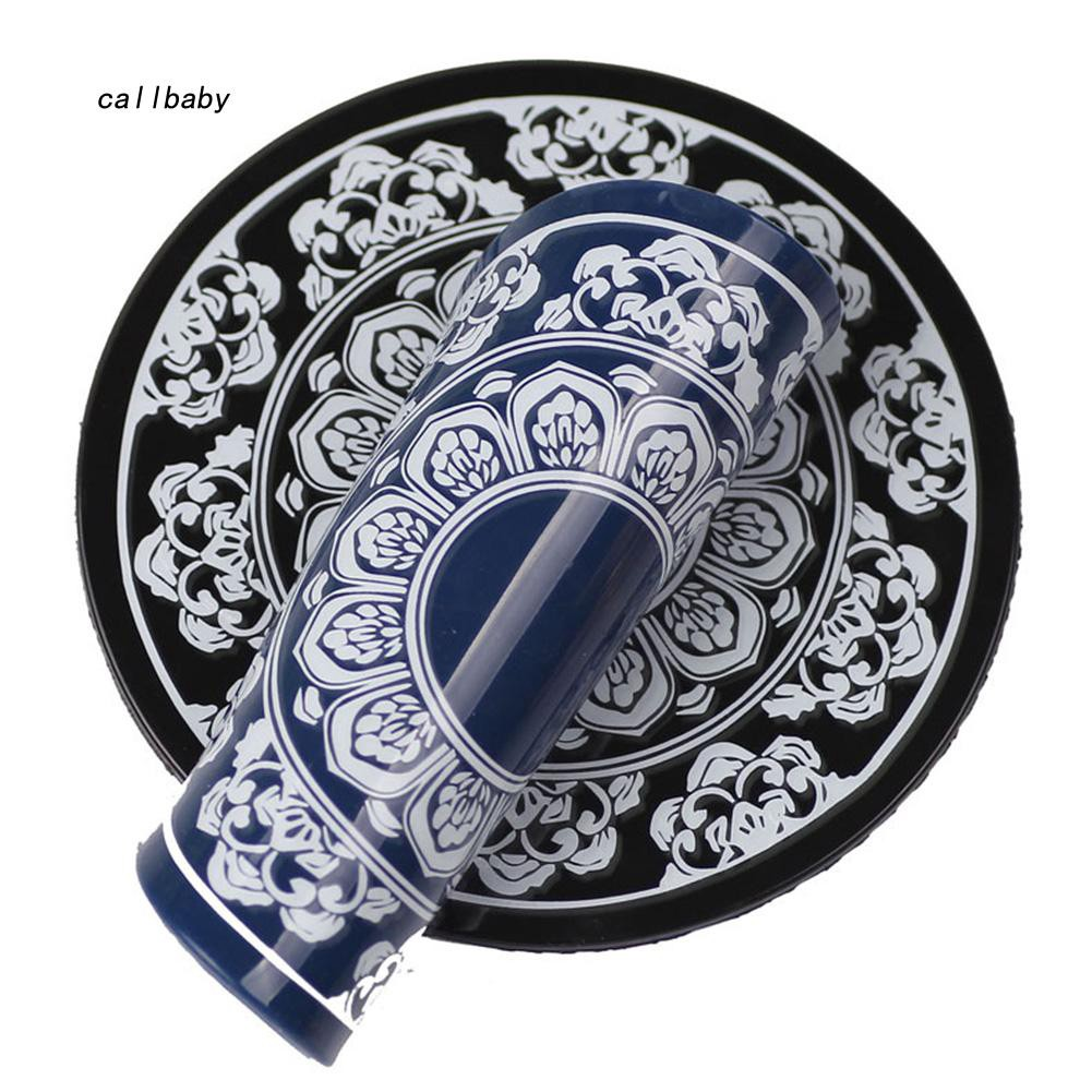 CLBB_Round Sticky Magical Porcelain Pattern Car Mobile Phone Anti-slip Mat Pad Mount