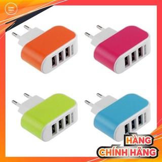 💖 CHÍNH HÃNG 💖 Củ sạc 3 cổng USB 3.1A nhiều màu- GD199