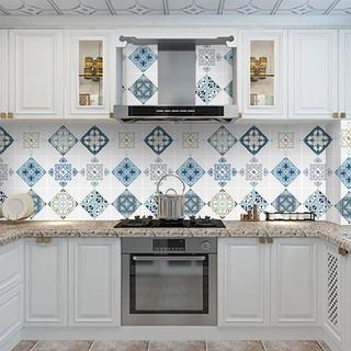 Yêu ThíchGiấy dán tường nhà bếp, miếng dán bếp chống bắn dầu mỡ, chịu nhiệt cao ô hoa văn hiện đại rộng 60cm